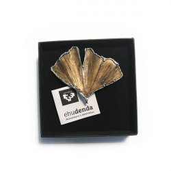 BROCHE GINGKO PLATA NATURAL ARBORETUM 8x8