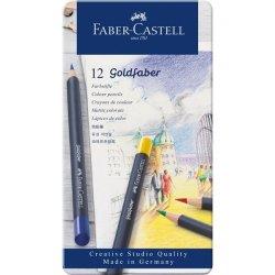ESTUCHE METÁLICO 12 LAPICES GOLDFABER -CASTELL