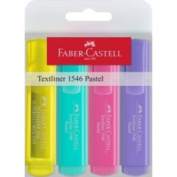 PACK 4 MARCADORES PASTEL FABER-CASTELL