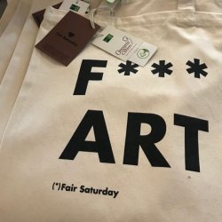 D F*** ART TOTE BAG FAIR SATURDAY