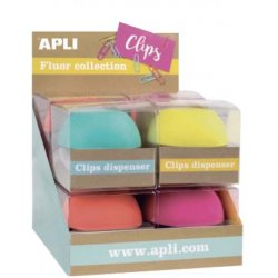 DISPENSADOR DE CLIPS FLUO APLI