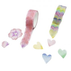 WASHI TAPE 20MM X 200 PETALOS O CORAZONES