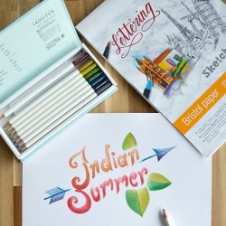 PAPEL BRISTOL LETTERING A4 25 HOJAS 250 GR TOMBOW