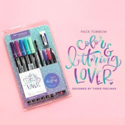 LETTERING SET EDICION THREEFEELINGS TOMBOW